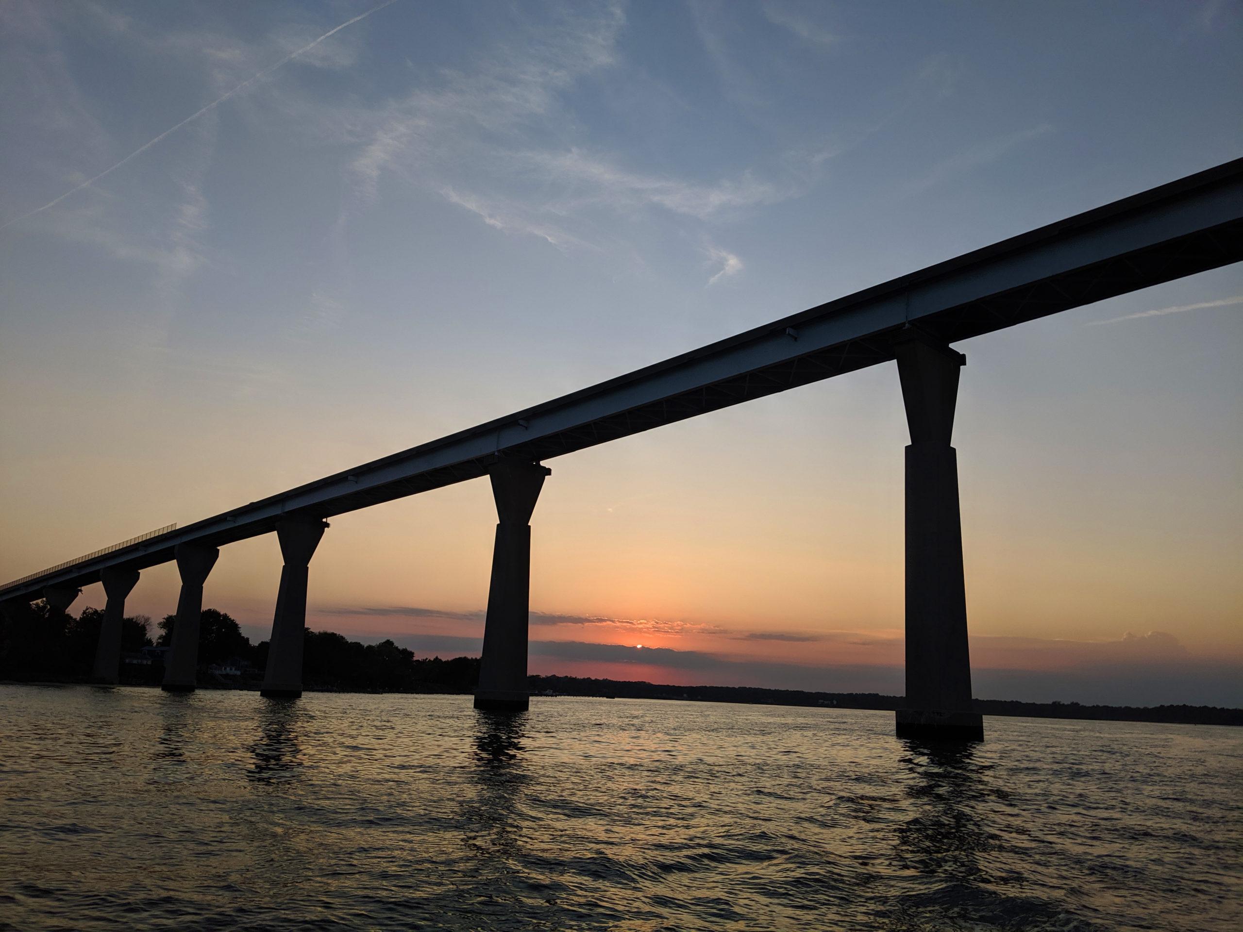 Solomons bridge sunset